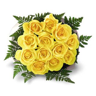 yellow rose bunch delivery in Hyderabad India