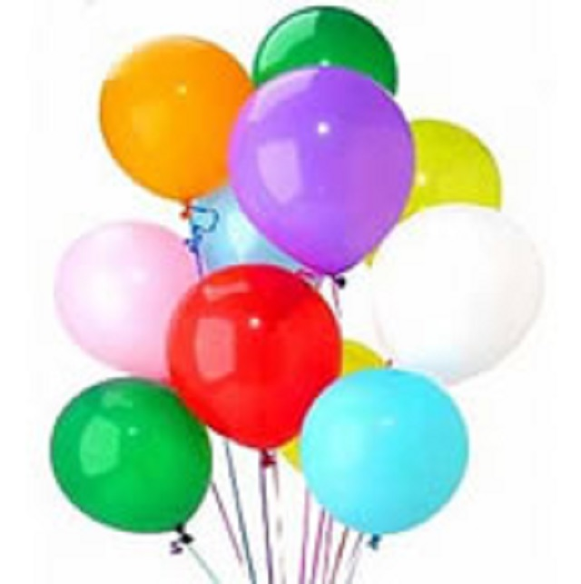 Mixed Color Balloons Delivery Hyderabad Late Night